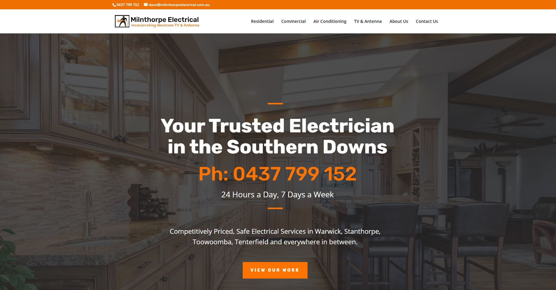 electrician web design warwick qld