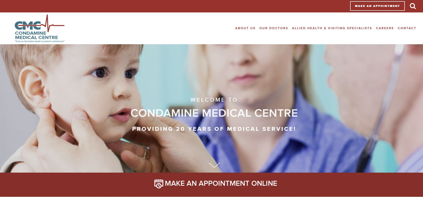 medical practice website design