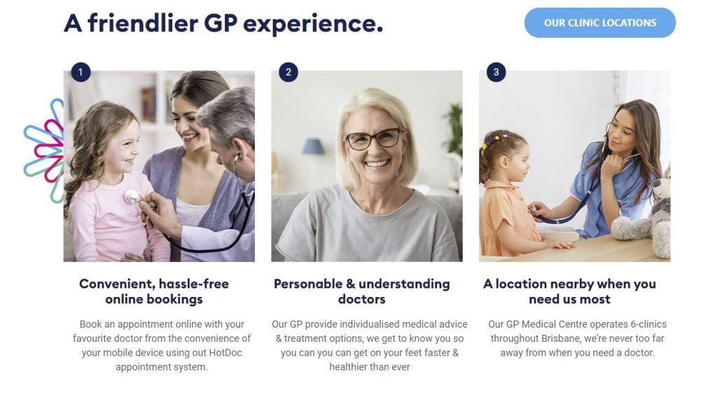 medical website design services